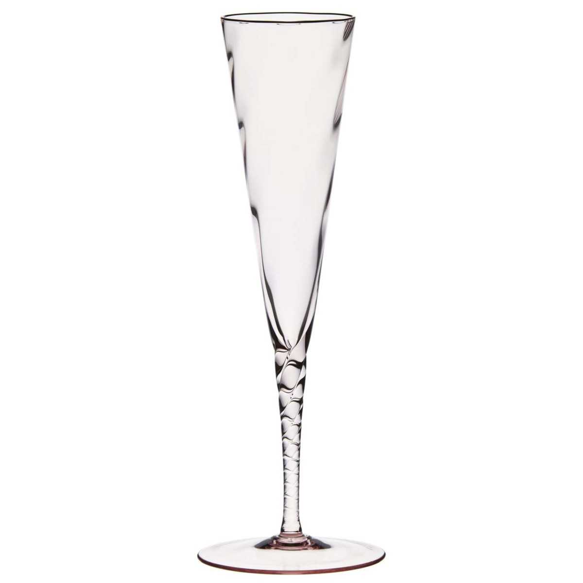 1200x1200 Twisted Pink Champagne Flute