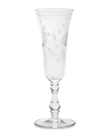 459x574 Vintage Etched Champagne Flutes, Set Of 4 Williams Sonoma