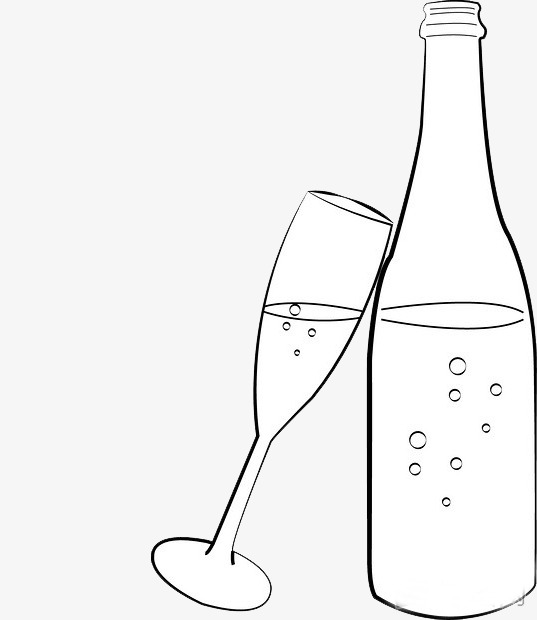 537x620 Champagne Glasses Decorated With Black And White Diagram, Black