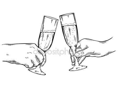 449x337 Champagne Glasses Vector Illustration Stock Vector
