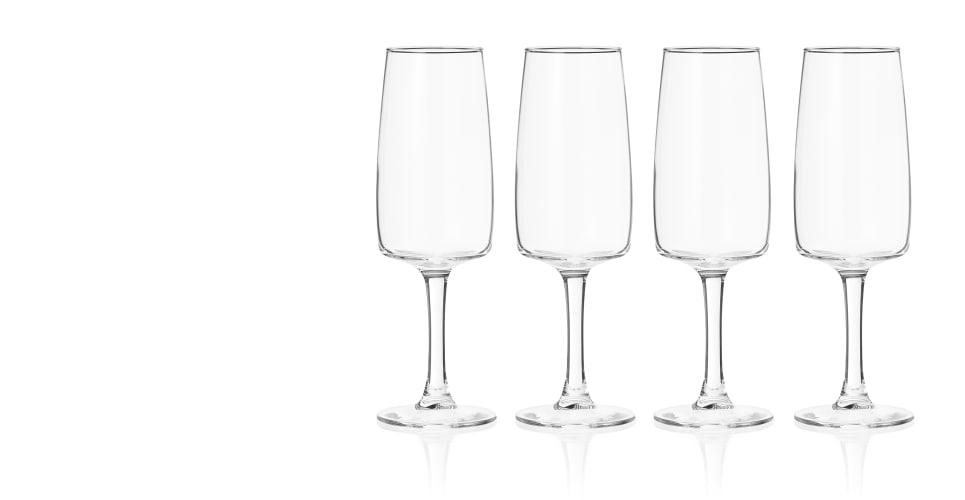 965x500 Made Essentials Salem 4 X Champagne Flutes