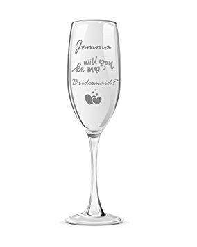 284x355 Personalised Will You Be My Bridesmaid Champagne Glass Amazon.co