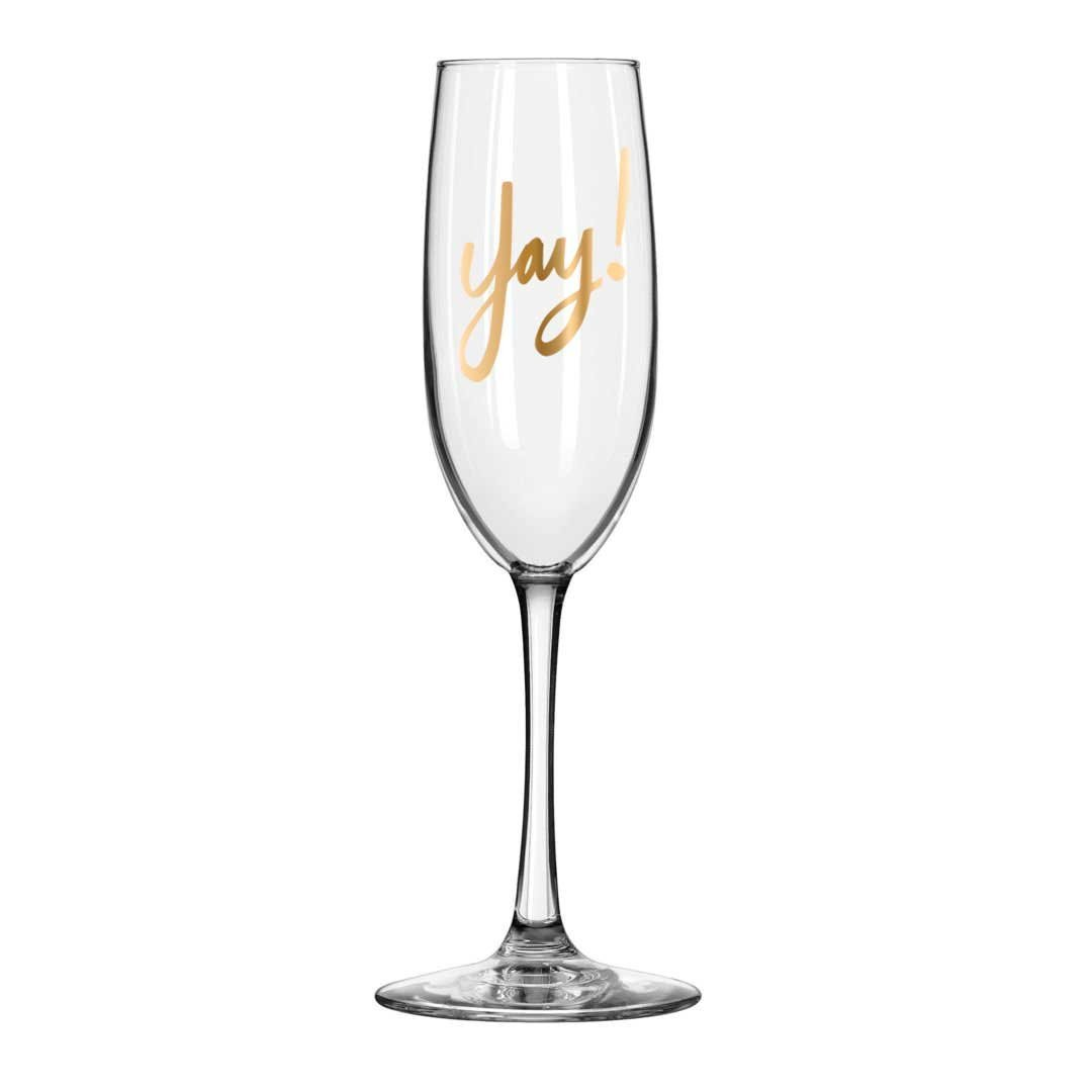 1080x1080 Easy, Tiger Champagne Flute With Foil, Gold Yay