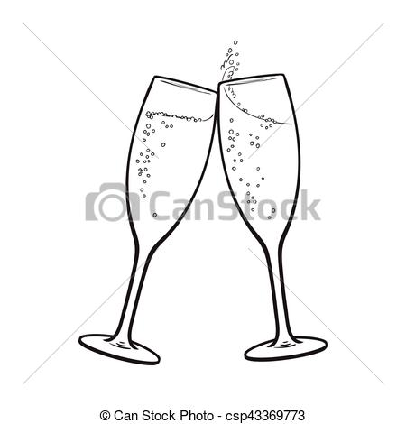 450x470 Glasses Of Sparkling Wine Illustrations And Clipart. 1,535 Glasses