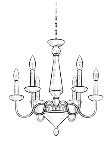 373x480 Chandelier Coloring Page Free Printable Coloring Pages