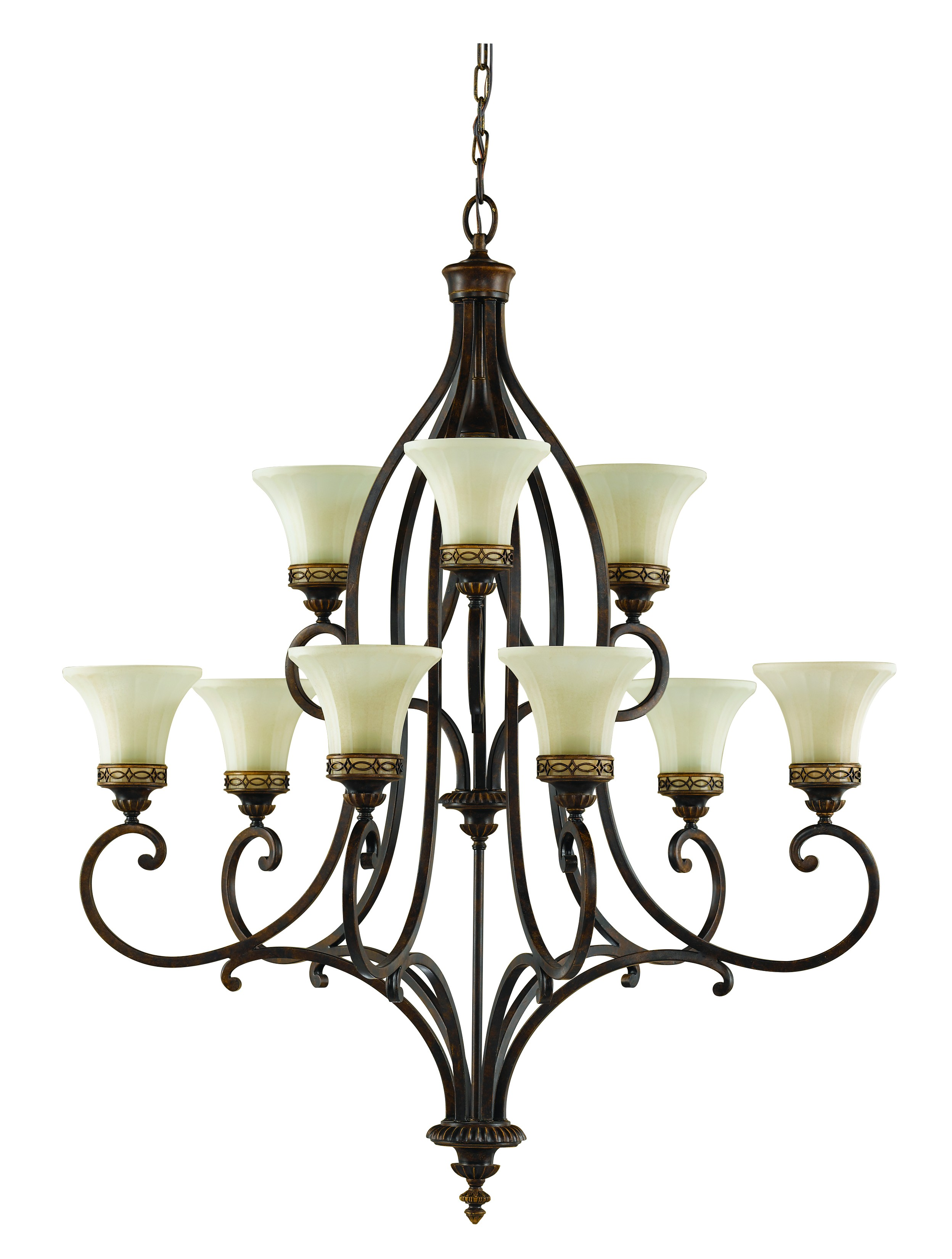 2496x3300 Drawing Room 9 Light Chandelier Ceiling Fitting