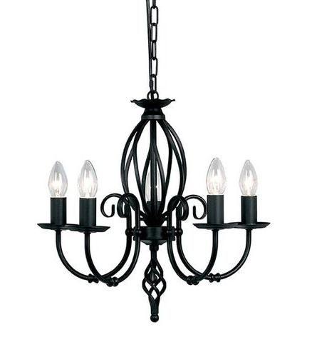 445x507 Elstead Artisan 5 Light Black Chandelier Art5bk Luxury Lighting