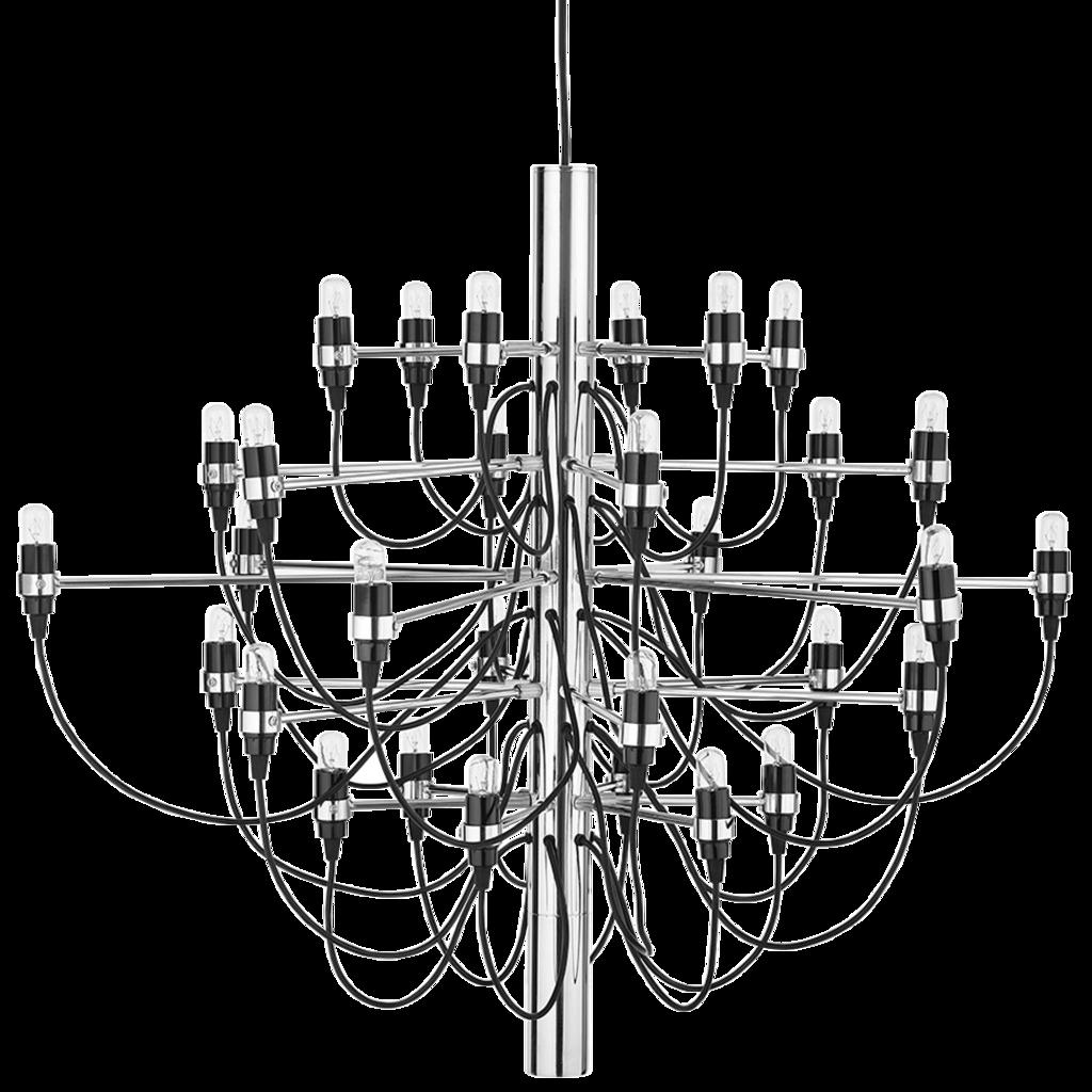 1024x1024 Gino Sarfatti Chandelier 30 Lightbulbs Silver Gino Sarfatti