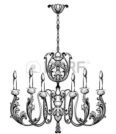 390x450 Rich Baroque Classic Chandelier. Luxury Decor Accessory Design