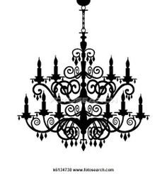 236x245 Four Chandelier Drawings Chandeliers, Drawings And Illustrations