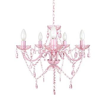 355x355 Tadpoles 5 Bulb Chandelier, Pink Sapphire Home Amp Kitchen