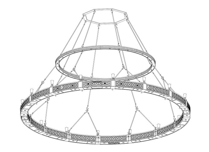 Chandelier Line Drawing