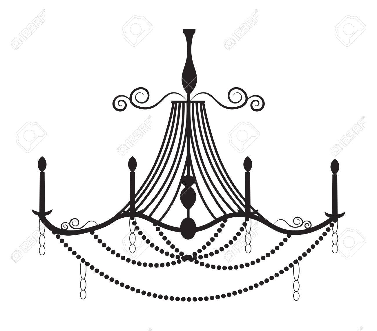 1300x1142 Classic Chandelier On White Background. Luxury Decor Accessory