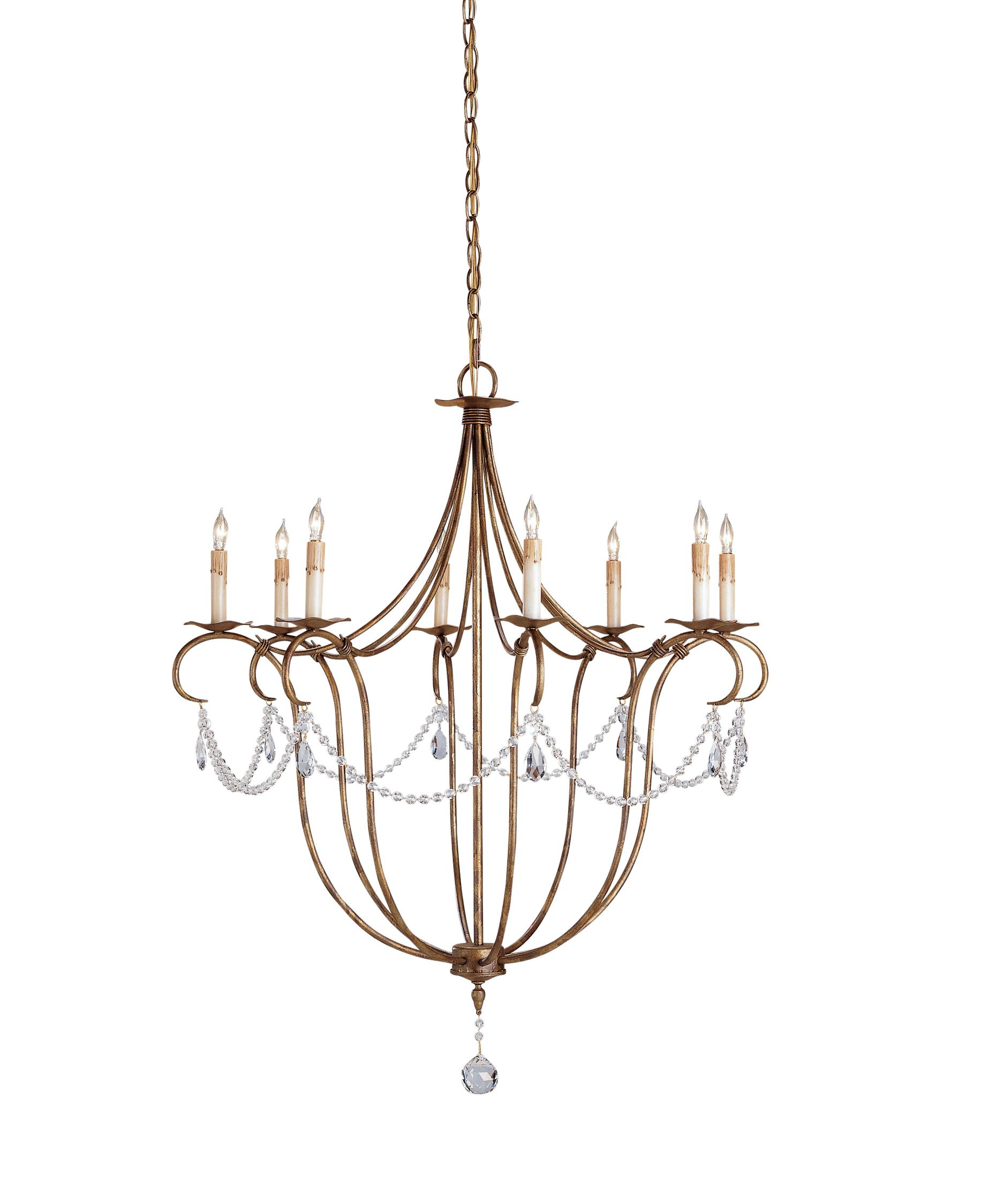 1875x2250 Currey And Company 9881 Crystal Lights 31 Inch Wide 8 Light