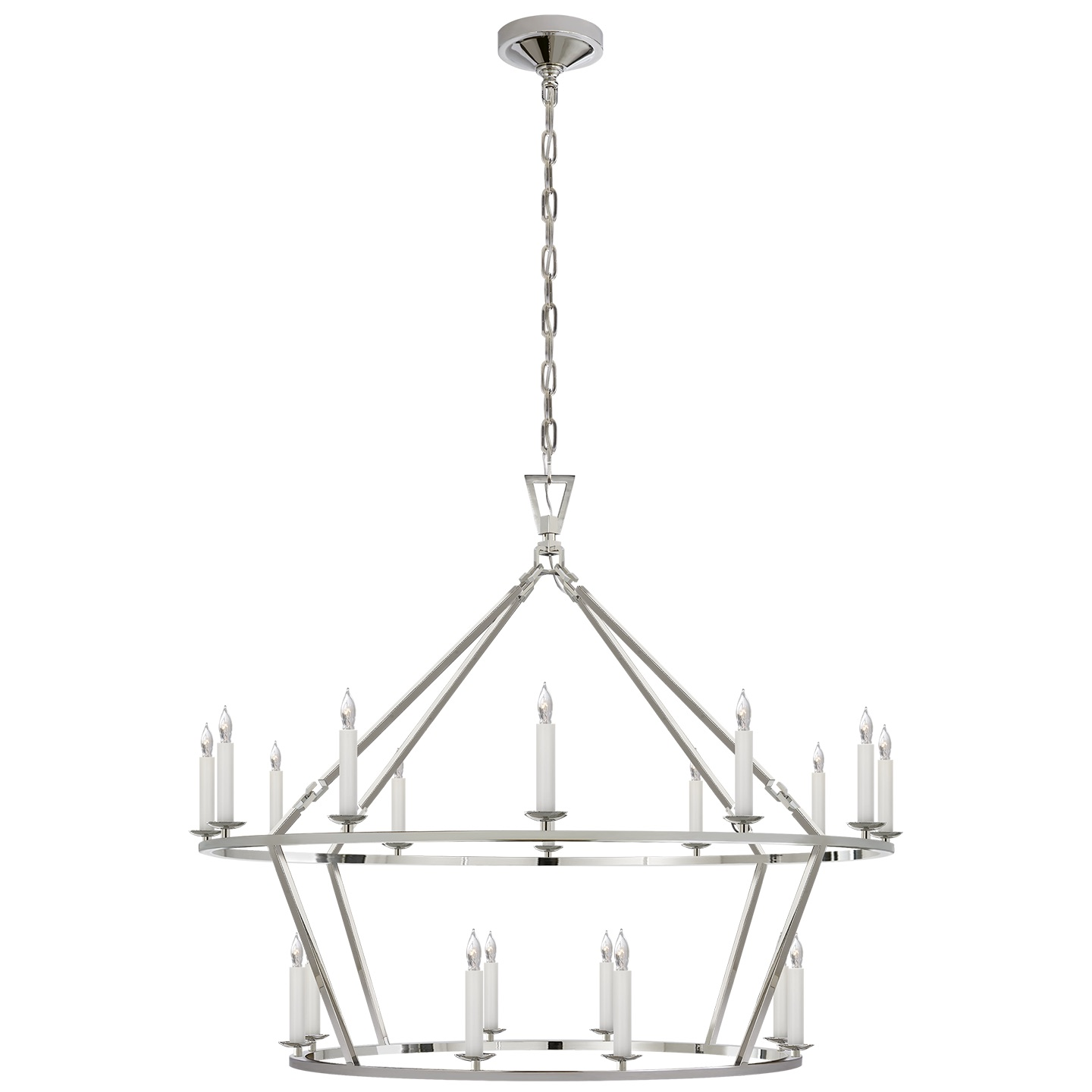 1440x1440 Darlana Large Two Tiered Ring Chandelier Linden Rose Amp Co.