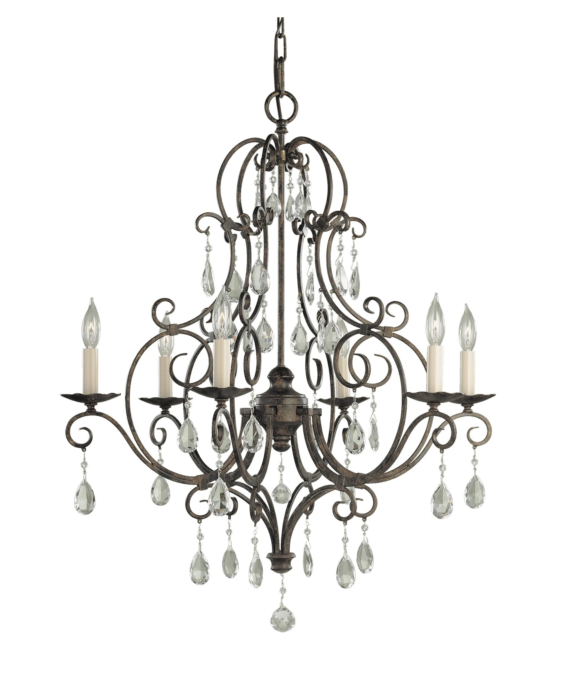 1875x2250 Murray Feiss F1902 6 Chateau 25 Inch Wide 6 Light Chandelier