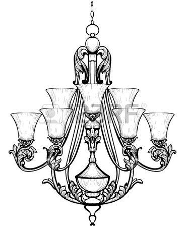 367x450 Rich Baroque Classic Chandelier. Luxury Decor Accessory Design