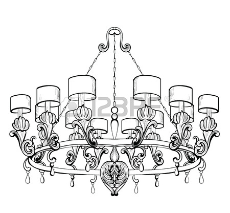 450x416 768 Crystal Chandelier Stock Vector Illustration And Royalty Free