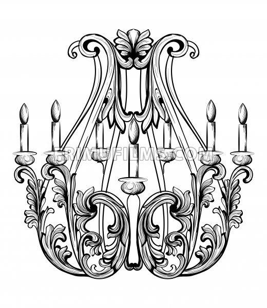 520x600 Rich Baroque Classic Chandelier. Luxury Decors Accessory Design