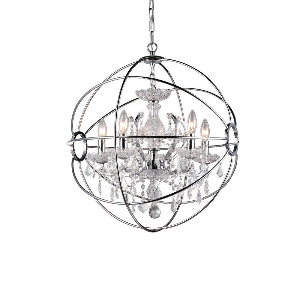 1000x1000 Warehouse Of Tiffany Saturn's Ring 6 Light Chrome Indoor