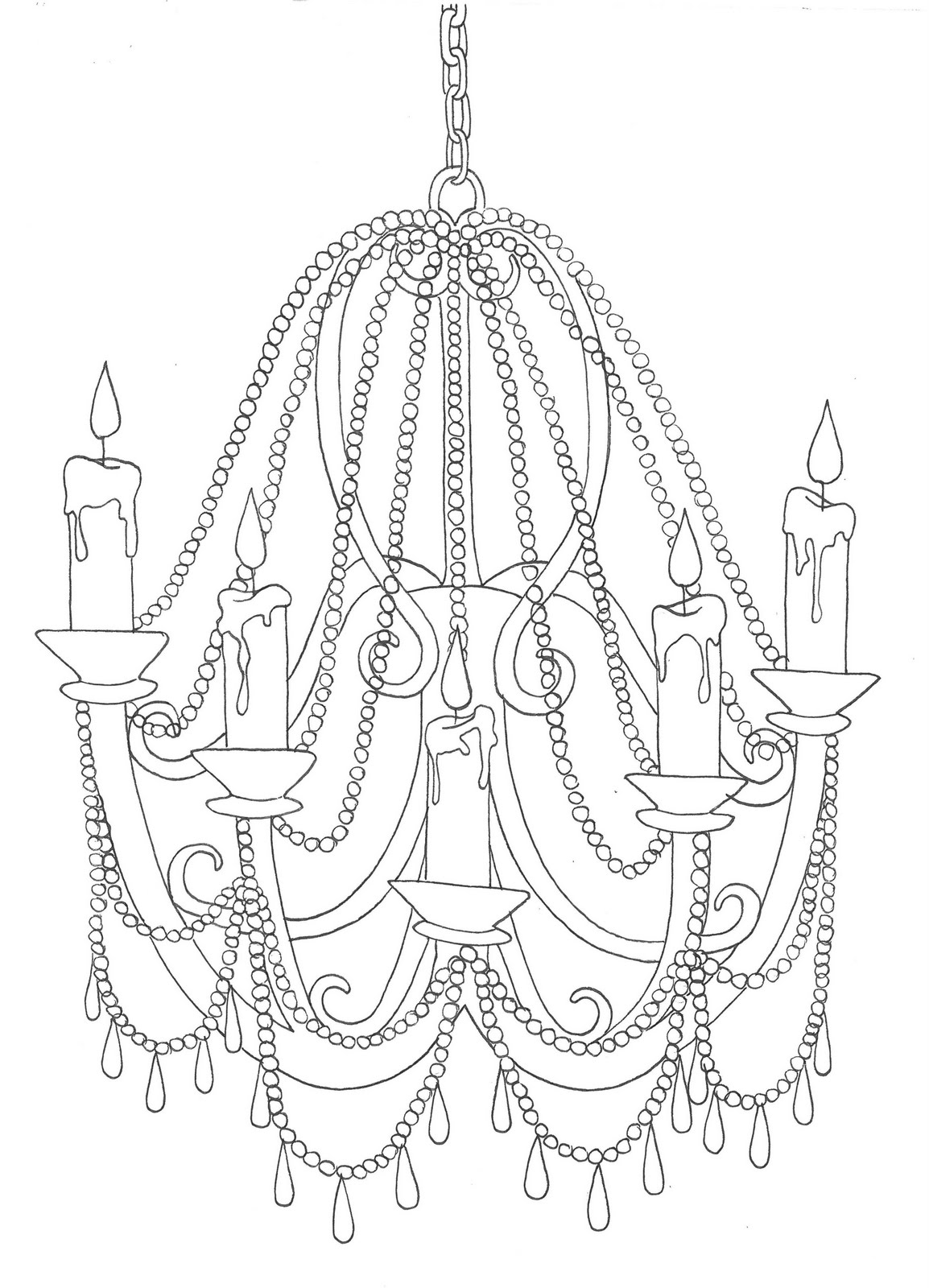 chandelier line drawing at getdrawings com