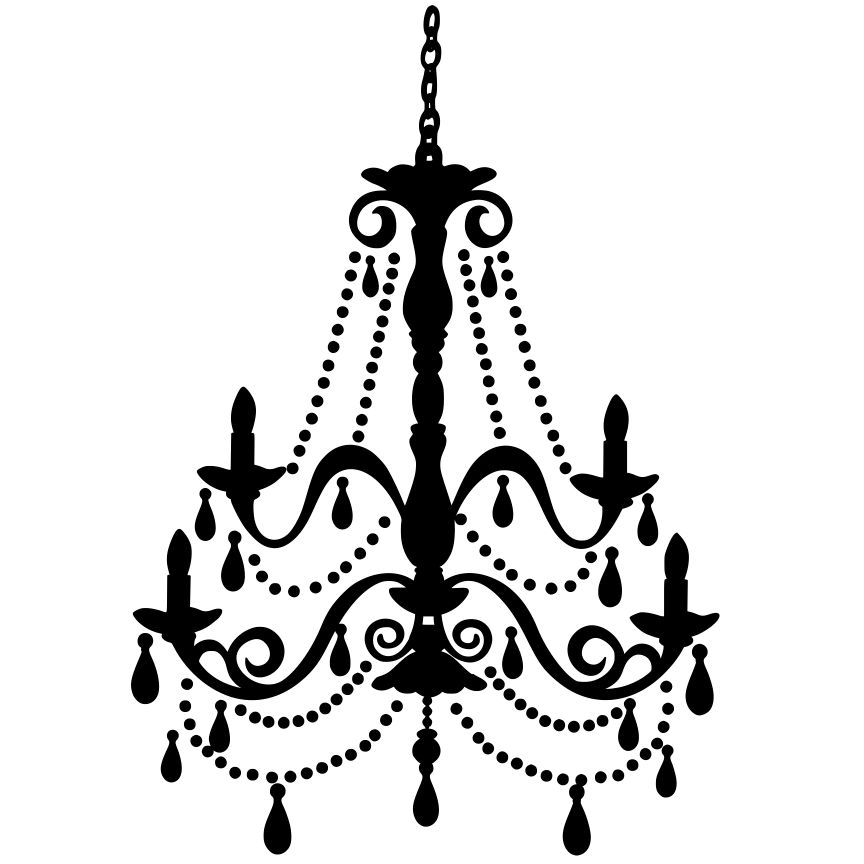 864x864 Chandelier Wall Art Svg File Download Silhouette Projects