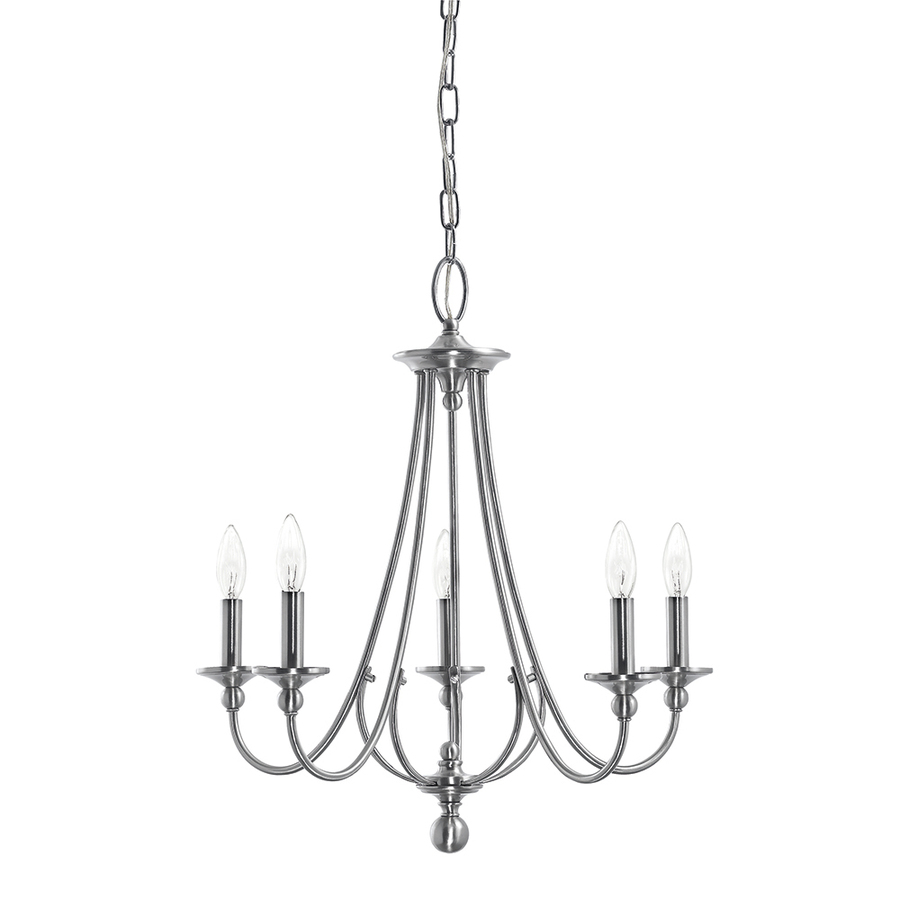 900x900 Shop Kichler Camella 21.77 In 5 Light Brushed Nickel Williamsburg