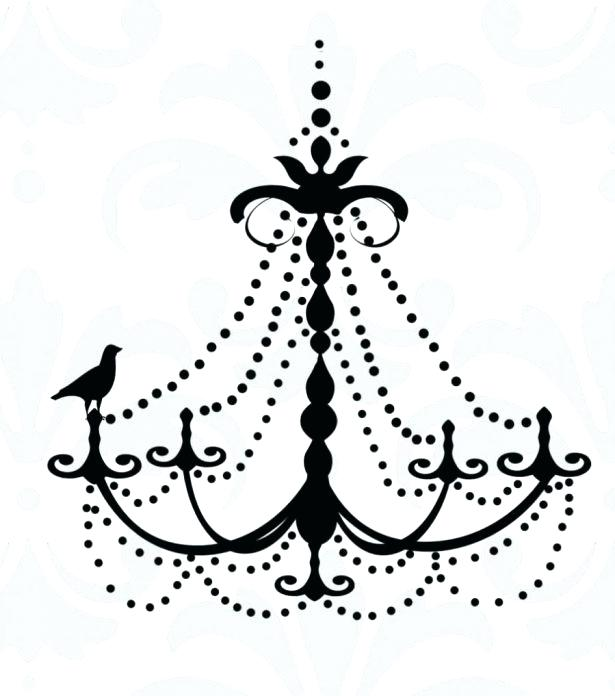 615x696 White Chandelier Wall Decal Large Size Of Chandelier Wall Decal