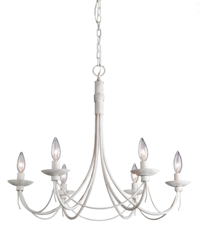 640x800 Antique White Wrought Iron Chandelier
