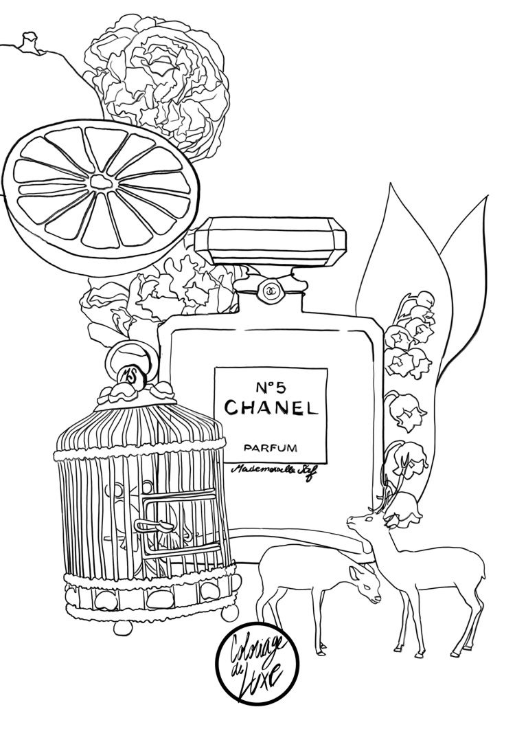 750x1061 Coloriage Chanel Adult Coloring, Coloring Books And Doodles