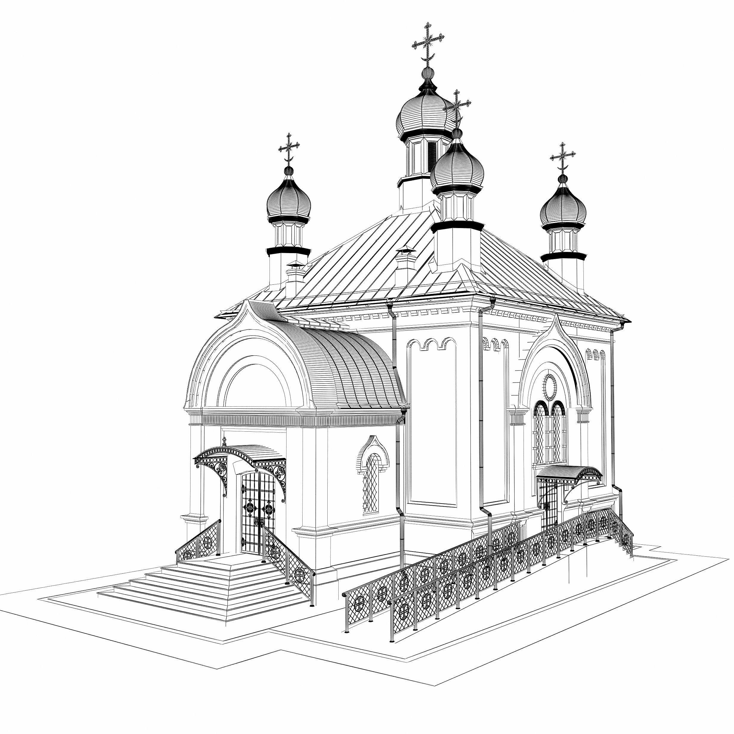 2462x2462 Church 1 3d Cgtrader