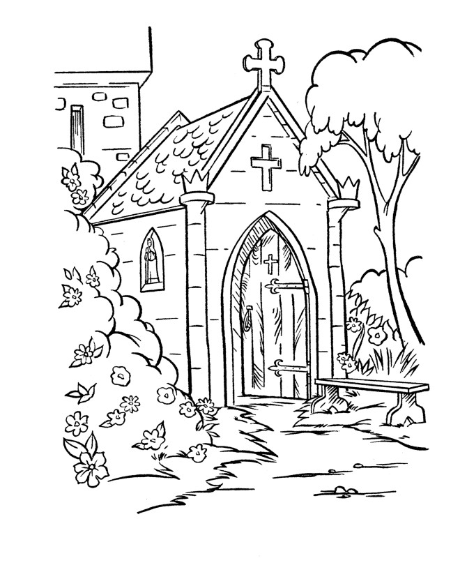 670x820 Church Coloring Pages To Print