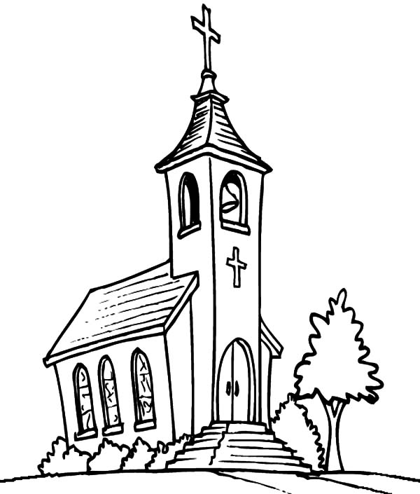 600x705 Church Coloring Pages