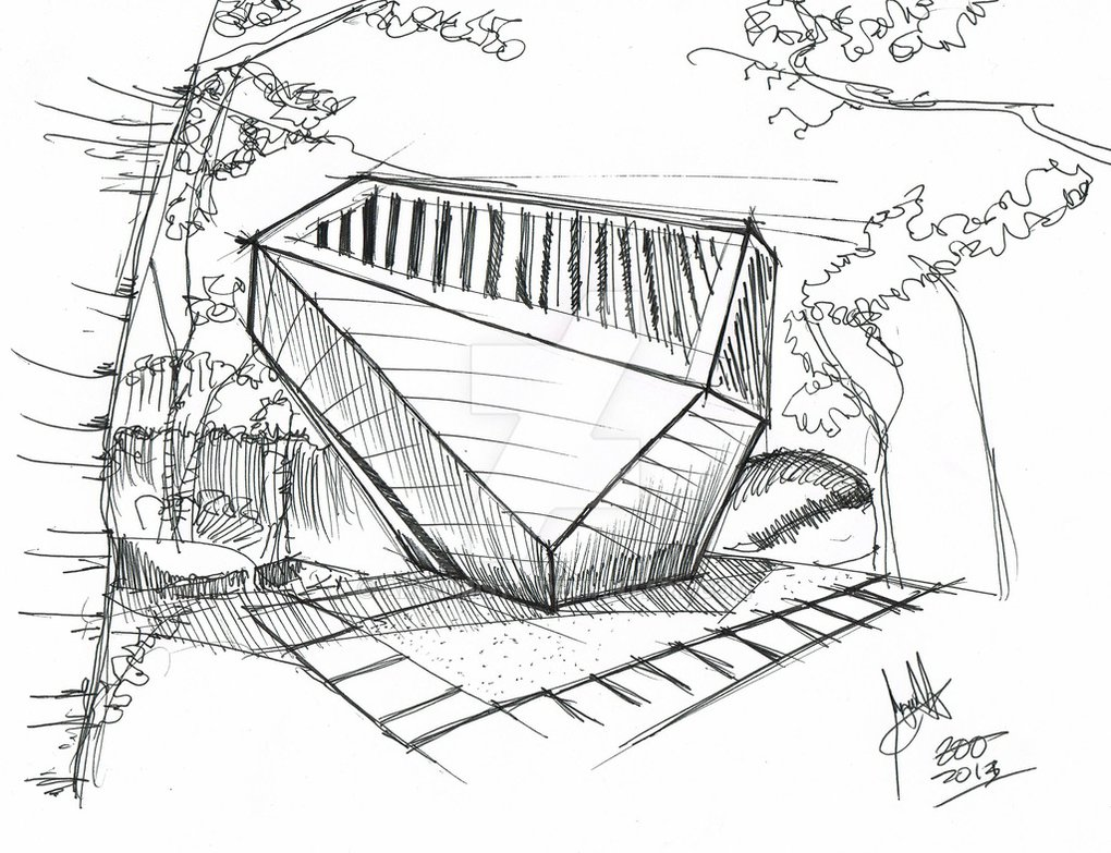 1020x783 Sunset Chapel Sketch By Arquimista