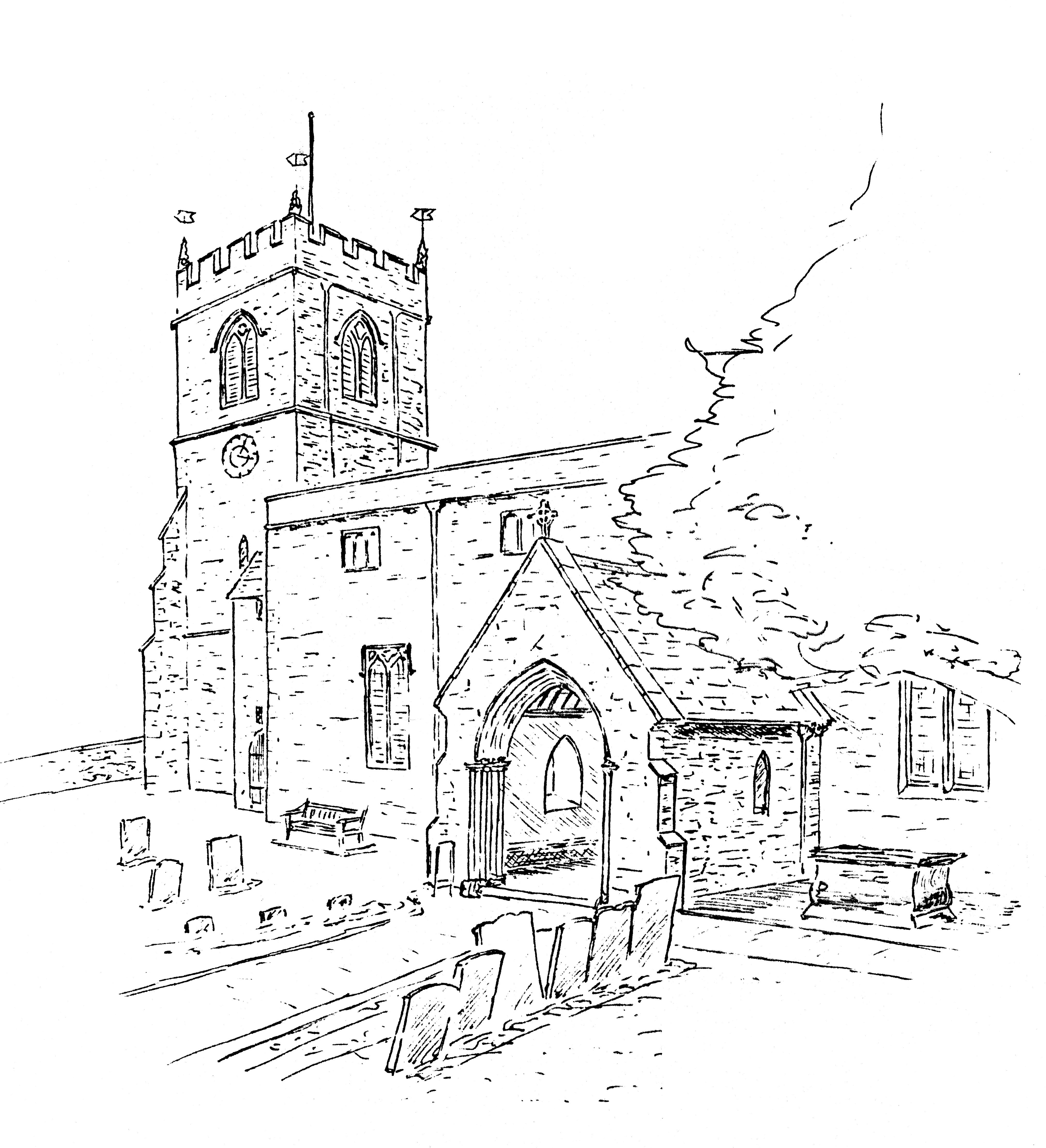 4047x4441 Wootton The Glyme Churches Wootton, Glympton, Kiddington