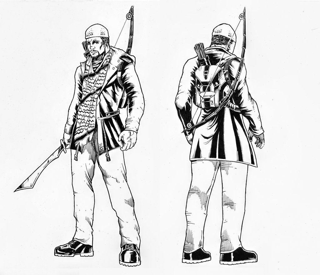 1024x878 Post Apocalyptic Warrior Character Reference By Abe7280