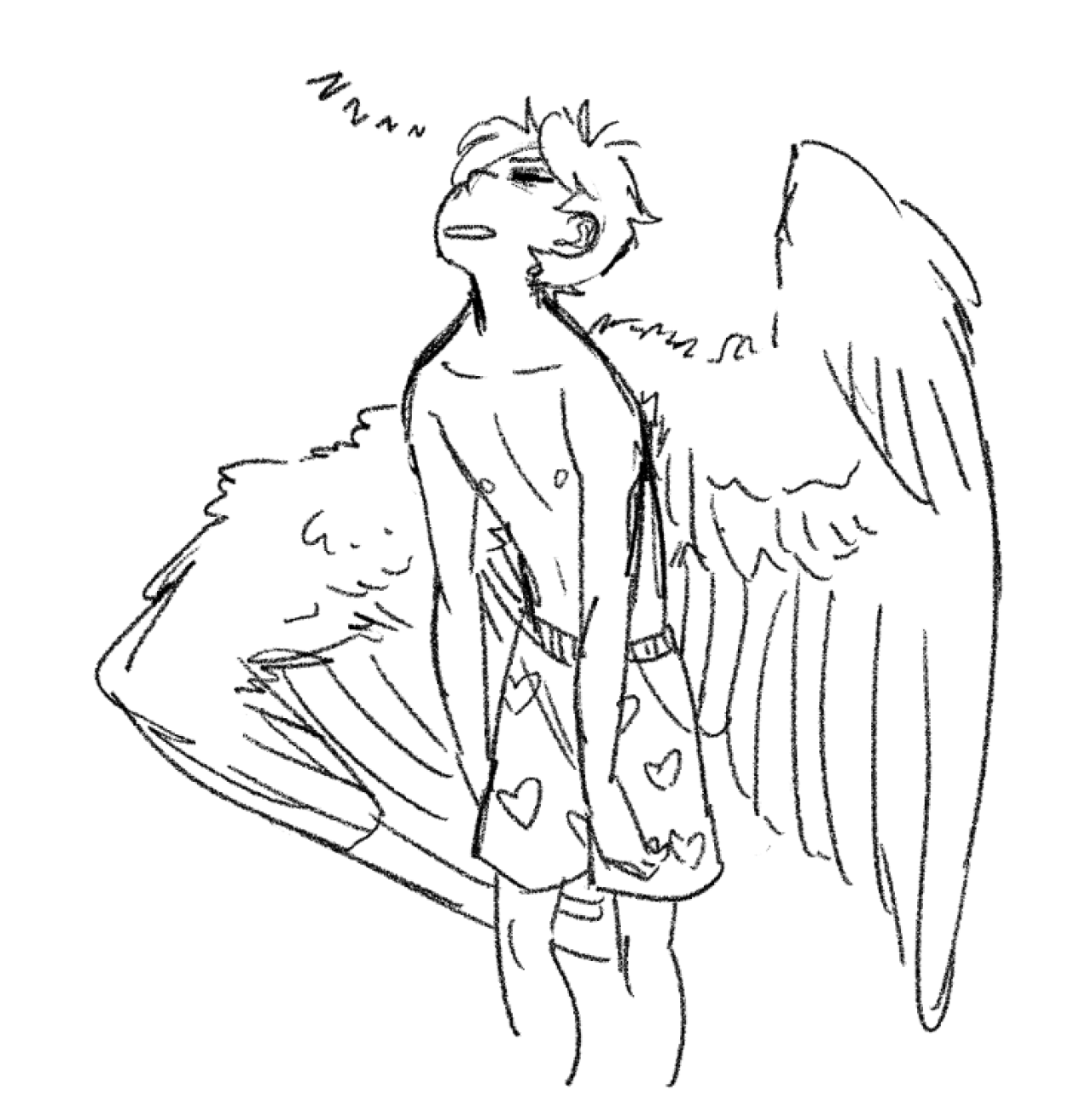 1280x1311 Ilchy In The Moring Wings I Love Wings Drawings