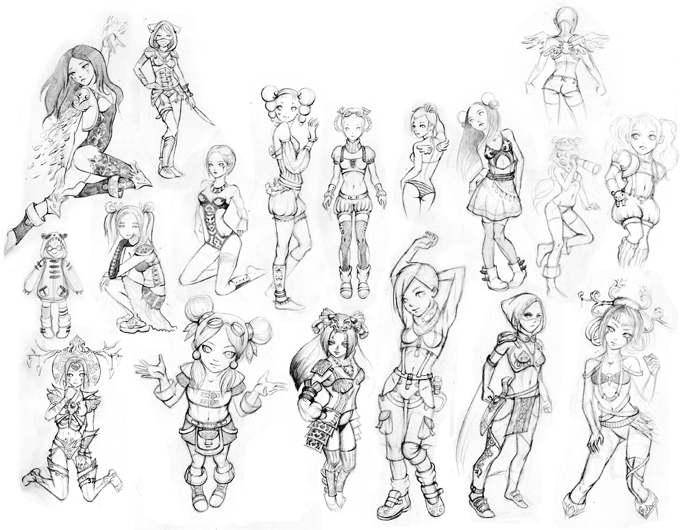 1000x774 Character Sketches By Freeminds