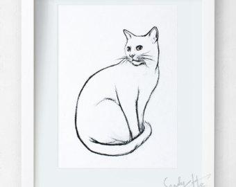 340x270 Original Art Charcoal Sketch Etsy