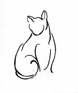 252x300 Whimsical Cat Drawings