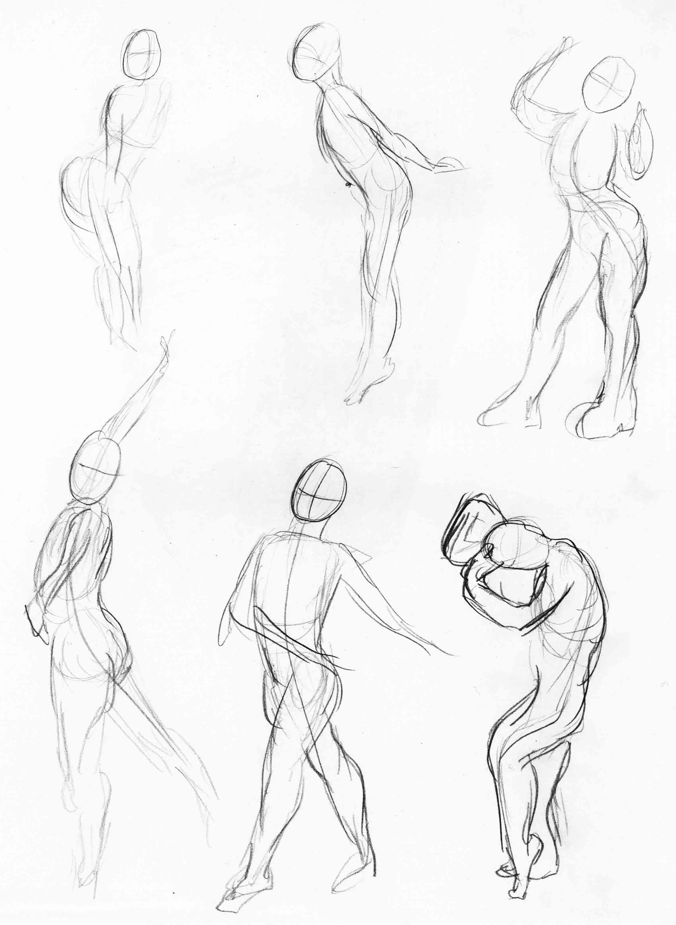 2355x3219 Gesture Drawings Dream Of The Scribble Fiend