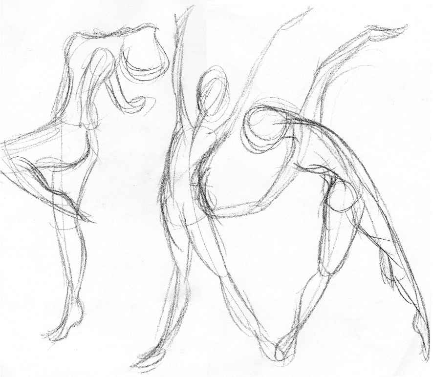 886x772 Gesture Drawings Like The Free Flowing Line.great Way To Get