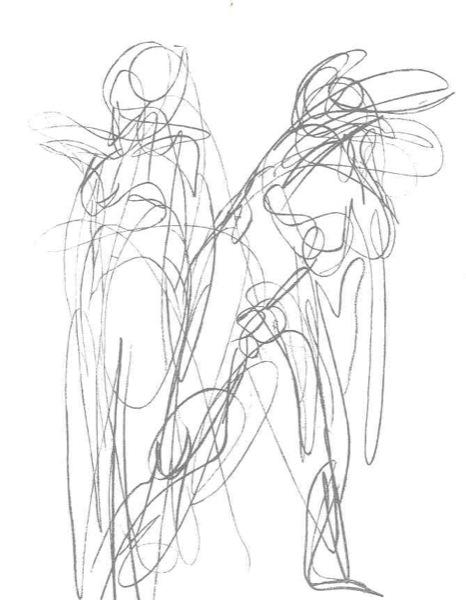 466x600 Giacometti Gesture Drawings