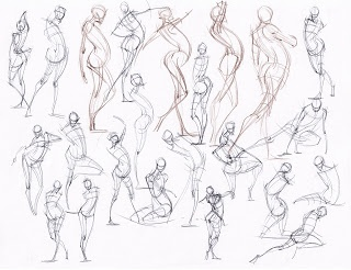 320x246 286 Best Gesture Drawing Images On Figure Drawings