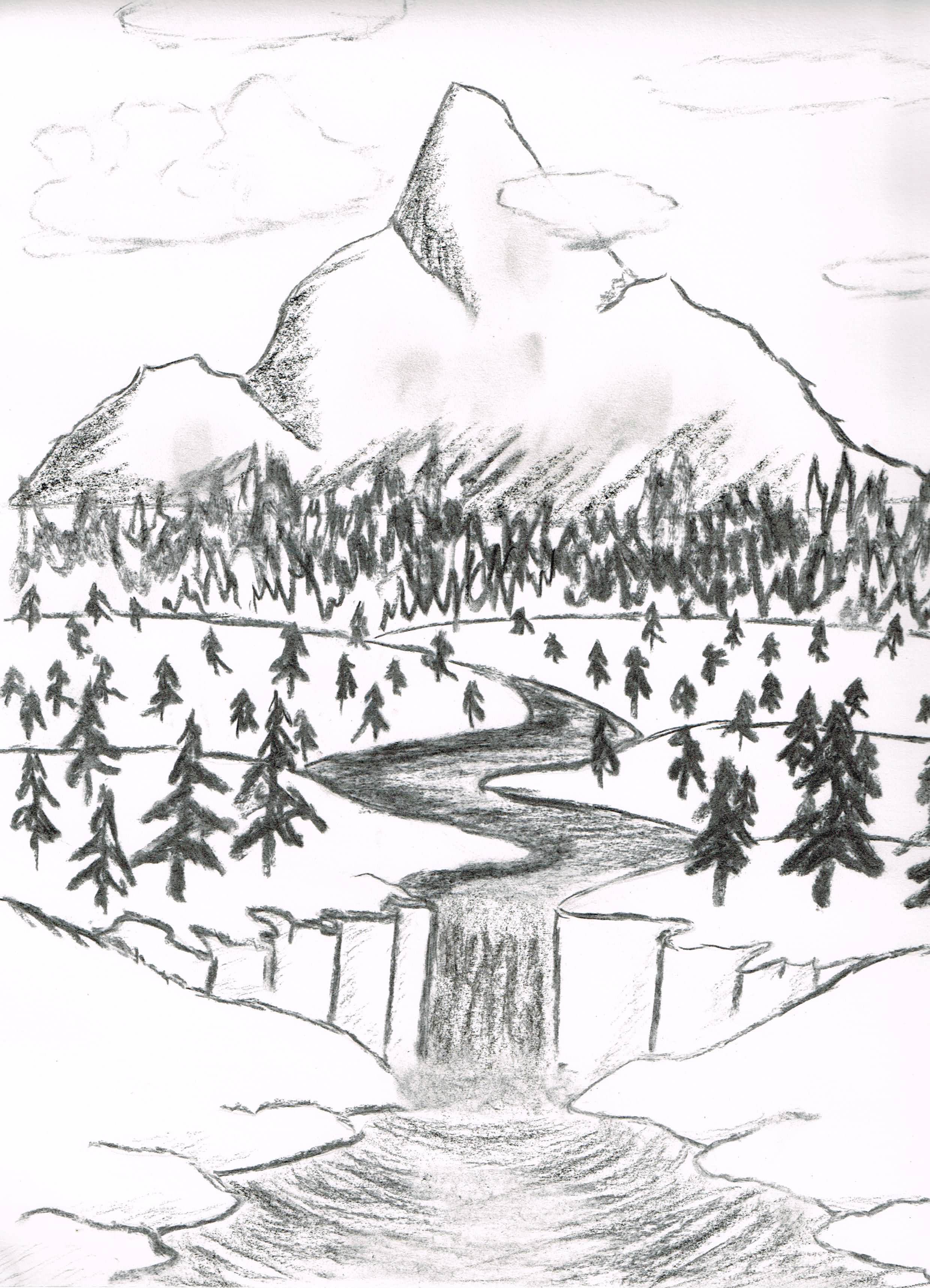 2480x3435 Charcoal Landscape By 66gryphons