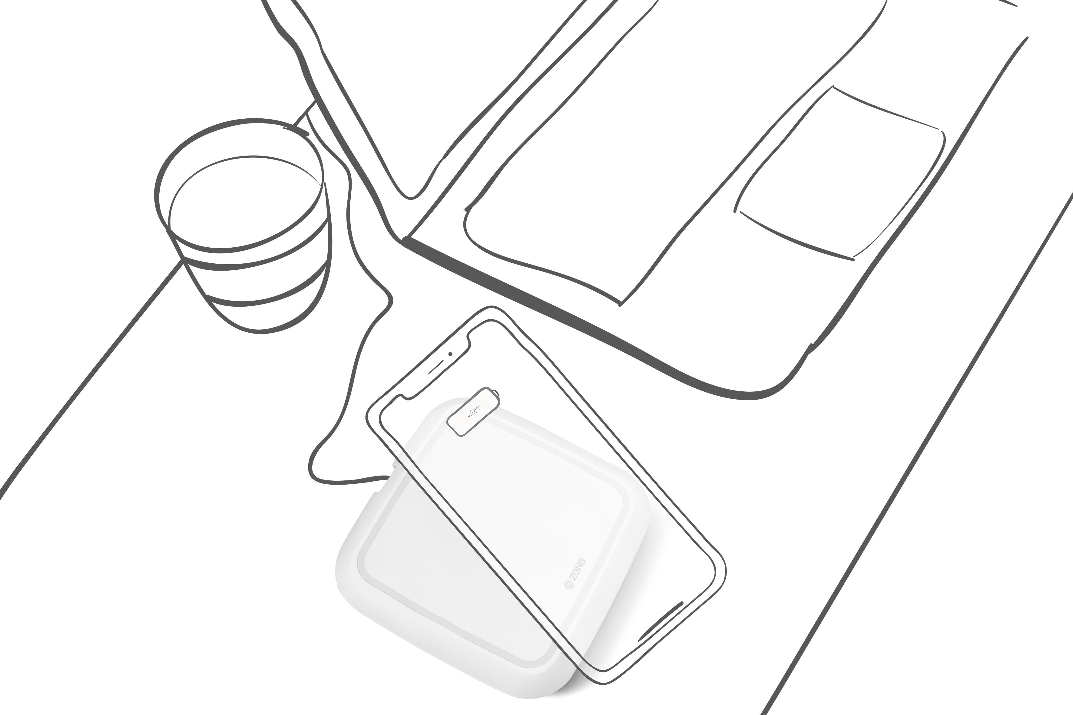 3543x2362 Zens Single Fast Wireless Charger 10w White