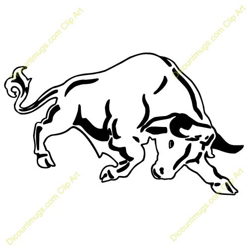 500x500 Bulls Clipart Drawn