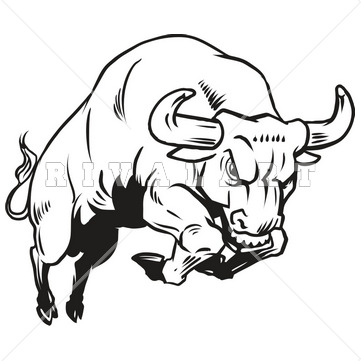 361x361 Charging Bull Clipart
