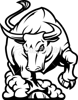296x380 Set Of Angry Bulls Design Vector 04