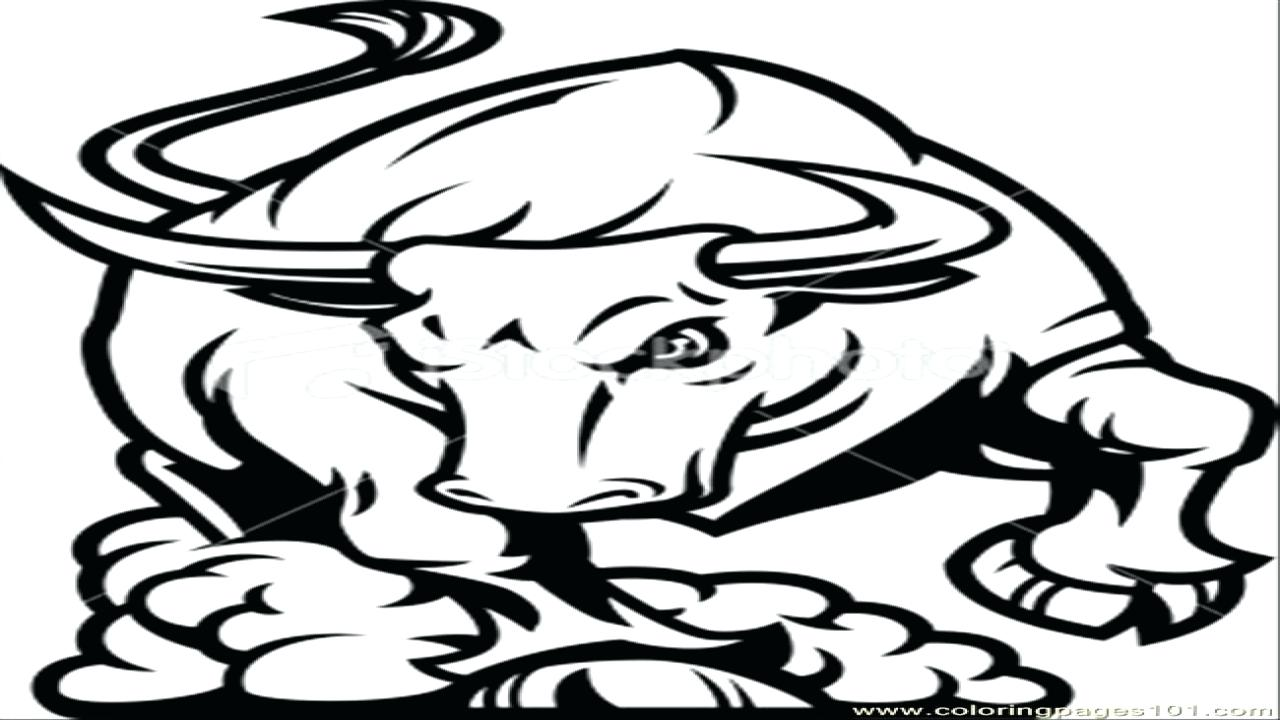 1280x720 Coloring Bull Coloring Pages